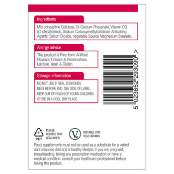 Image of Vitamin D3 Ingredients