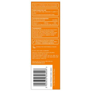 Image of Vitamin C dissolvable tablet ingredients